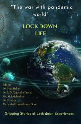 """Cover for """"The war with pandemic world """"LOCK DOWN LIFE"""