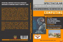 Cover for INTERNATIONAL CONFERENCE ON SPECTACULAR PROGRESSIVE IMPROVEMENTS IN ENGINEERING SCIENCES & COMPUTING (ICSPEC 2021)
