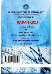 Cover for National Conference on Recent Advancements in Design,Automation and Intelligent Systems (RADAIS-2K18)