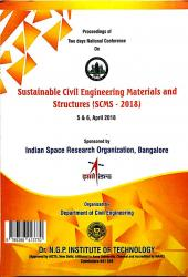 Cover for Processdings of Two days National Conference on Sustainable Civil Engineering Materials and Structures (SCMS-2018)