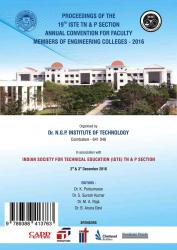 Cover for Proceedings of the 19 th ISTE TN  & P section Annual Convention for Faculty Members of Engineeering Colleges-2016