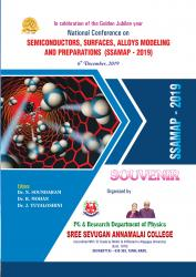 Cover for National Conference on SEMICONDUCTORS, SURFACES, ALLOYS MODELING AND PREPARATIONS (SSAMAP - 2019)