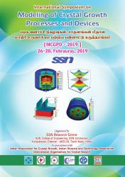 Cover for International Symposium on Modeling of Crystal Growth Process and Devices